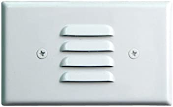 Elco Lighting ELST62W 120V Incandescent Mini Step Light with Louvered Faceplate