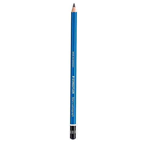 Staedtler Mars Lumograph 8B, 1 x Bleistift, Buntstift (8B, blau)