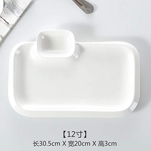 Meopreboey Pure witte creatieve keramische plaat Snack schotel vis diner plaat saus schotel westerse plaat Steak Huishoudelijke Dumplings