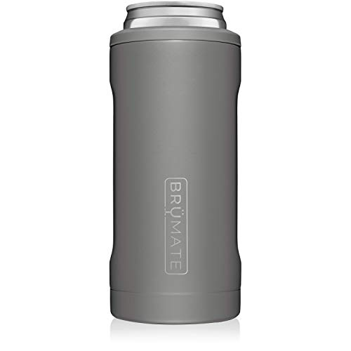 BrüMate Hopsulator Slim Double-walled Stainless Steel Insulated Can Cooler for 12 Oz...