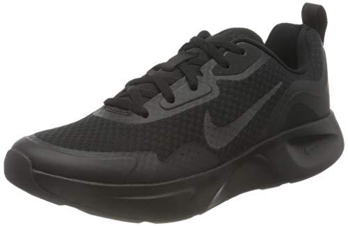Nike Damen Wearallday Sneakers, Black/Black, 39 EU