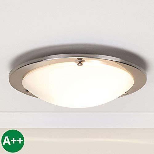 Lindby Deckenlampe 'Rebecca' dimmbar (Modern) in Weiß aus Glas u.a. für Flur & Treppenhaus (1 flammig, E27, A++) - Deckenleuchte, Lampe, Flurleuchte