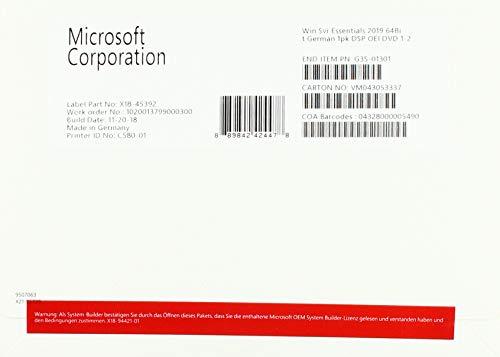Microsoft Microsoft 2019 Server Essentials x64 Bild