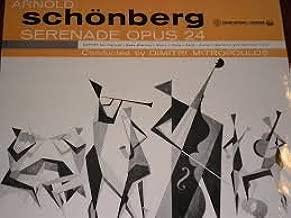 Schoenberg: Serenade op. 24, septet for clarinet, bass clarinet, violin, viola, cello, guitar, mandolin and baritone voice