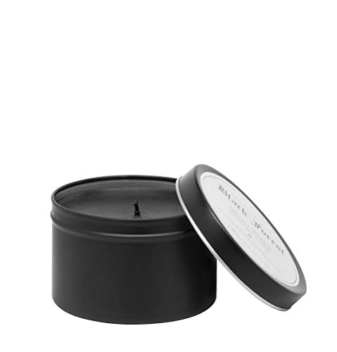 Archipelago Botanicals Black Forest Travel Tin Candle. Sweet and Woody Scent of Dark Ebony Woods, Douglas Fir, Black Patchouli and Sweet Mulberries. Clean Soy Wax Blend Burns 30 Hours (5.7 oz)