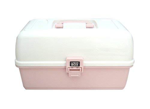 Organizador de almacenamiento flexible y ajustable, 2 bandejas contienen divisores extraíbles para compartimentos de tamaño personalizado (Rosa)