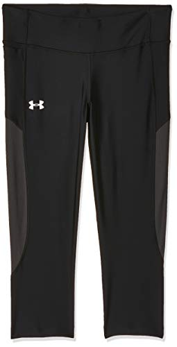 Under Armour Speed Stride Capri Legging, Mujer, Negro, MD