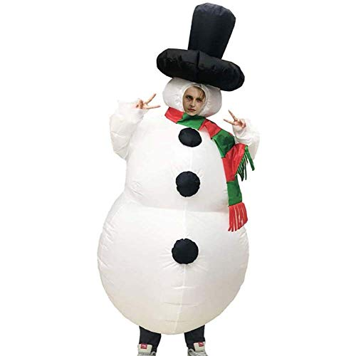 LYYAN Traje Inflable Disfraz Monigote de Nieve Inflable Nios Adulto Opcional Navidad Halloween Traje Inflable Carnival Cosplay Fancy Dress Fiesta Disfraces Regalo (Size : Adult)