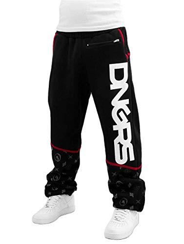 Dangerous DNGRS Männer Jogginghose Crosshair Baggy Schwarz 5XL
