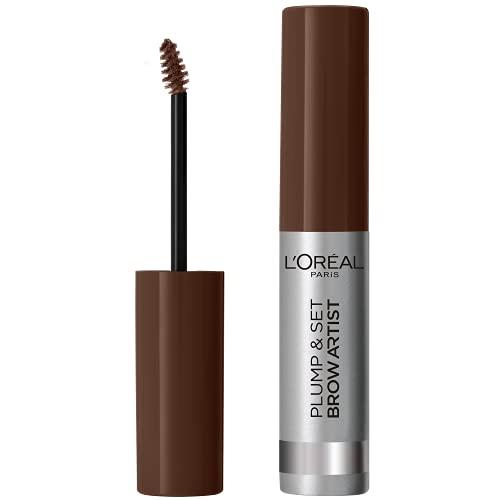 L'Oréal Paris Brow Artist Plump & Set 105 Brunette, braunes Augenbrauen-Gel für definierte und dichter wirkende Augenbrauen