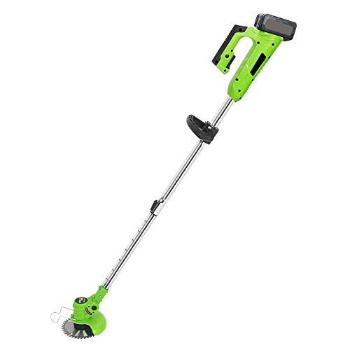 JIUNENG Cordless Grass Trimmer,High Power Weed Wacker 21V,Scalable Trimming Machine(Two Battery)