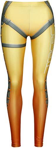 Overwatch Wild Bangarang - Tracer Mujer Leggins Multicolor M, 80% poliéster, 20% elastán, Pitillo