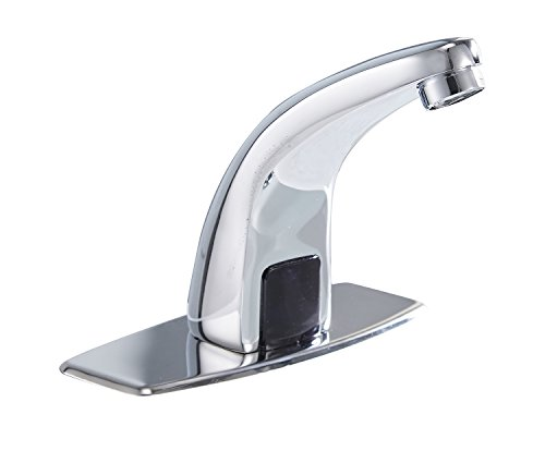 Greenspring Commercial Automatic Sensor Touchless Deck Mount Solid Brass Bathroom Sink Faucet With Hole Cover Plate Hands Free Chrome Vanity Faucets