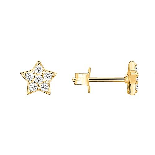 PAVOI 14K Yellow Gold Plated Sterling Silver Star Earrings | Dainty Earrings for Women