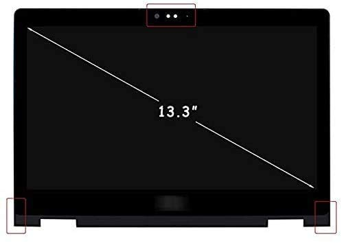 13.3' FHD LCD Touch Screen Replacement Compatible fit Dell Inspiron 13 5368 5378 5379 Display Digitizer Assembly (w/Square Corner,Double Webcam Holes) NV133FHM-A11 B133HAB01.0