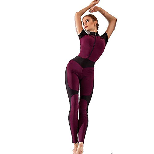 Mooyii Damen Mode Leopardenmuster Sports Aush?hlen Yoga Suit Overall Jumpsuit Leggings, Trainingsanzug Damen Elastizit?t Zweiteiliger Anzug Yoga Gym Laufen Set Fitness Sportswear