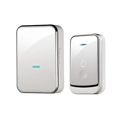 YIXIN2013SHOP Timbre Inalámbrico Home Touch Timbre de la Puerta Interruptor de Control Remoto electrónico Inteligente Villa Timbre Plata Blanco Timbre Impermeable