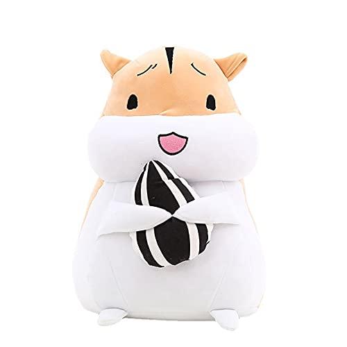WAYKShop Hamster Toy Plush Imitando Hámster Muñeco De Peluche Regalo De Cumpleaños para Niños,Peluches De Registro De Peluche Interactivos para El Día De San Valentín,Marrón,40cm