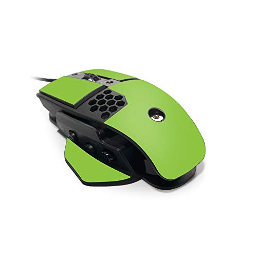 MightySkins Skin for Thermaltake Esports Level 10 M Gaming Mouse - Solid Lime Green | Protective, Durable, and Unique Vinyl Decal wrap Cover | Easy to Apply | Made in The USA