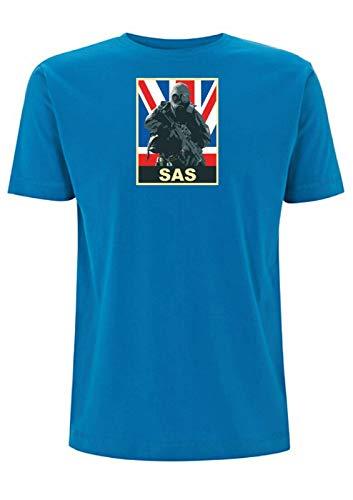 Time 4 Tee SAS inspirado camiseta Union Jack Graphic British Soldier Special...