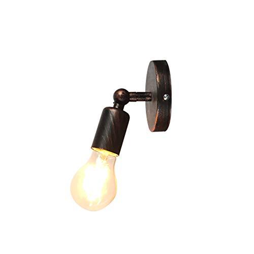 STOEX Einfache Wandleuchte Vintage industrielle Wandleuchte E27 Retro kleine Wandlampe für Schlafzimmer Korridor Loft Badezimmer Flur (Roter Rost)