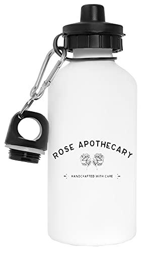 Rose Apothecary Botella de Agua Blanco Aluminio Reutilizable Water Bottle White Aluminium Reusable