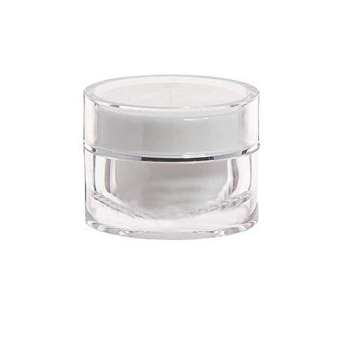 2 PCS 20ML 0.7OZ Blanc Vide Remplissable Acrylique Crème Bouteille Crème Pour Le Visage Cosmétiques Faciale Beauté Conteneur De Stockage Contour Des Yeux Crème Émulsion Bocaux