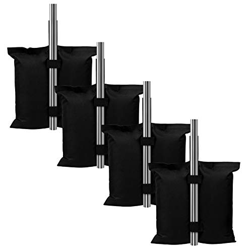 Coindivi Weight Sand Bags for Pop up Canopy Tent, Heavy Duty Weights Sandbags Set of 4, Patio Outdoor Furniture Weight Bag with Strong Industrial Grade Bearing