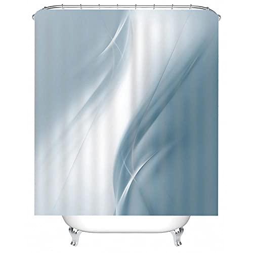 NZDSXQ Duschvorhang Cyan abstraktes Muster 3D Duschvorhäng Wasserdicht Anti Schimmel antibakteriell Shower Curtain mit 12 Duschvorhängeringen 180x180cm