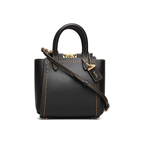 Coach Ladies Black Troupe Leather Tote Bag