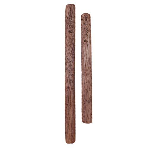 BESTonZON Rührer für Kaffeegetränke aus Holz - 2 Stück Langstieliges Praktisches Rührstück aus Holz mit Einfachem Honigstab für die Restaurantküche
