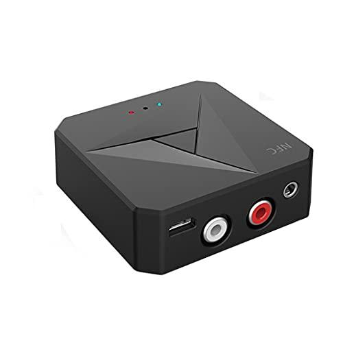 YWSZJ Receptor Bluetooth 5.0 3.5mm Auxiliar Jacobo RCA Adaptador De Audio Inalámbrico Música Manos Libres De Llamada Mic NFC Kit De Coche para TELEVISOR Auto
