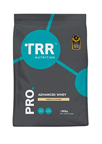 TRR PRO Advanced Whey - Protein Powder Certified by Informed-Sport, Low-Fat with Whey Concentrate, Whey Hydrolysate & Whey Isolate (900g) (Vanilla)