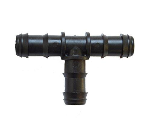 S&M 541995 Te de Goteo 16 mm-Blíster 50 Unidades, Negro, 10 x 14,5 x 24 cm