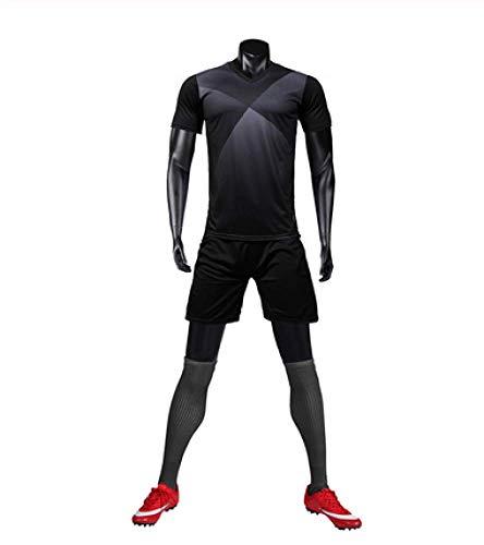 XIAOL Fußball Trikots 2019 Männer Fußball Trikots Sets Sport Blank Fußballmannschaft Trainingsanzüge Fußball Uniformen Kleidung Fußball Uniform,B-XL