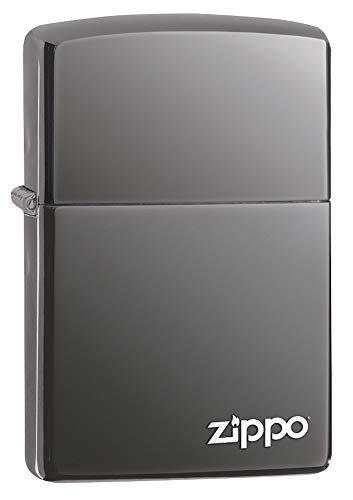 Zippo Feuerzeug 60001213 Black Ice w Logo, Silber, 5, 5cm