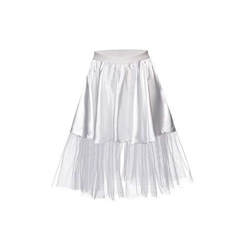 Kostümplanet® Petticoat weiß mit Gummiband und Tüll Tutu Petti Coat Unterrock weißer Petticoat