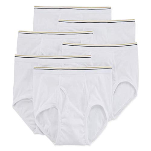 Stafford 6 Pack 100% Cotton Full-Cut Briefs White (36)
