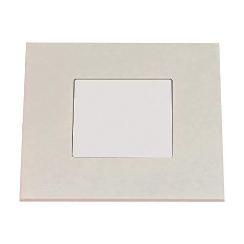 Heitronic 27632 Applique murale extérieure en aluminium Blanc 7,5 x 7,5 cm