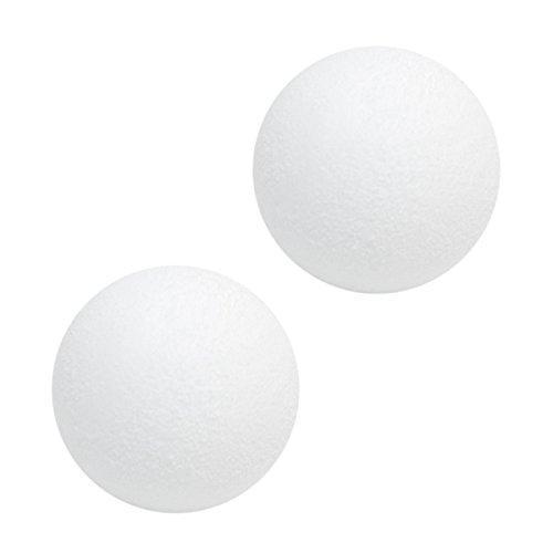 EYEPOWER 2 x Kickerbälle Ø36mm 2er Kickerball Set Tischfussball Tischkicker Ersatzball Turnierball Ball Extra Gripp hart und geräuscharm Weiß