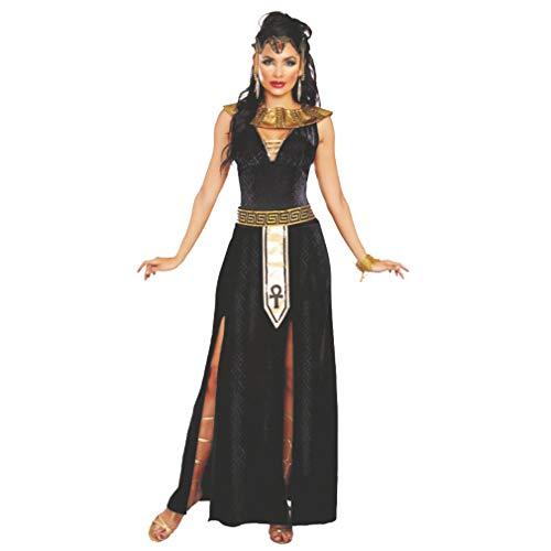 DreamGirl Disfraz de Damas Cleopatra Vestido Alexia Cinturón de Cuello Largo Antigüedad egipcia (XL)
