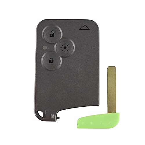kuyuansu 3 botones remoto tarjeta de la llave caso Shell Fob cubierta Insertar pequeña hoja clave tarjeta inteligente para Renault Laguna Espace reemplazo