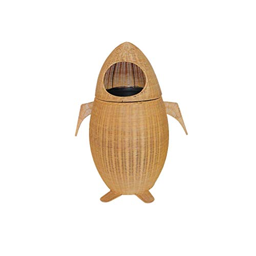 DSJMUY Papelera Bambú y ratán Tejido Parque Escolar Jardín de Infantes Hotel Personalidad Dibujos Animados Lindo Creativo Bote de Basura (Color: B)