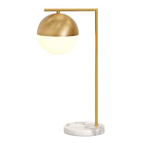 GUOCAO Luz Iluminación decorativa, Reading lámpara- de noche y lámpara de mesa de cristal de latón Lámparas de mesa lámpara de mesa Dormitorio Sala de Estudio Sala de la lámpara de cabecera moderna si
