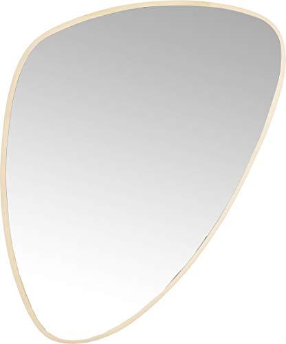 Kare Design Jetset Spiegel, (HxB) 83x56cm, ovaler Wandspiegel, Bad Spiegel, Schminkspiegel, Gold (H/B/T) 83x56x3,4cm