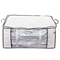 Pack away out of season bedding and clothing into a fraction of the original space Once filled, seal the inner bag, vac out the air & zip up the outer bag Large enough to store a kingsize duvet and four pillows. Polypropylene outer bag With easy-carr...