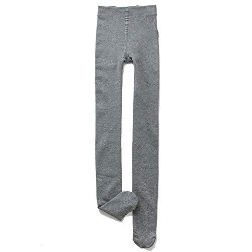Collants Pantalons Chauds - GB2642 Leggings Women Wear Cotton Stepping Feet Winter Plus Velvet Wild Bottoming Socks (Color : Light gray, Size : One)