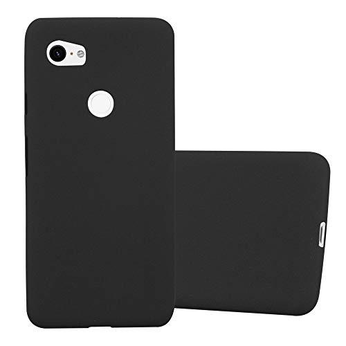 Cadorabo Funda para Google Pixel 2 XL en Frost Negro - Cubierta Proteccíon de Silicona TPU Delgada e Flexible con Antichoque - Gel Case Cover Carcasa Ligera