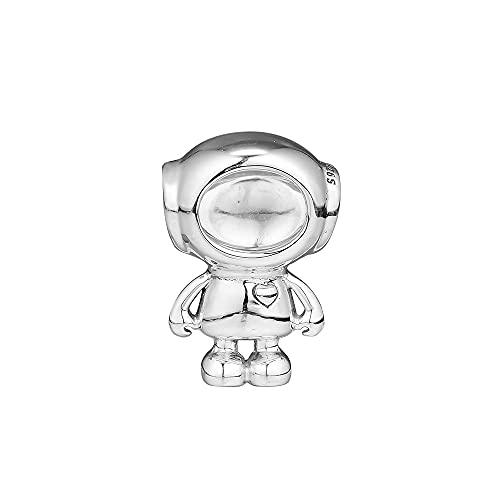 LIIHVYI Pandora Charms para Mujeres Cuentas Plata De Ley 925 Cosmo Tommy Astronauta Compatible con Pulseras Europeos Collars