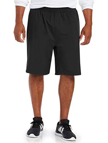 Amazon Essentials Men's & Tall Stretch Woven Training Short fit by DXL, Black, 3XL